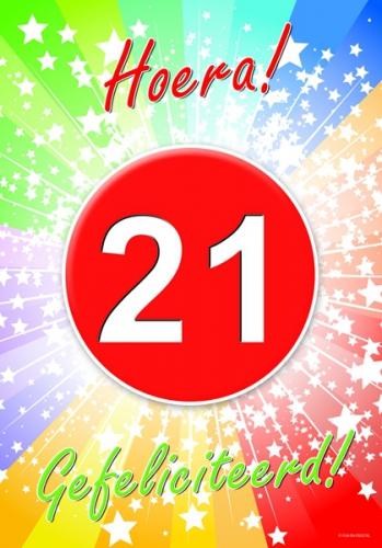 21 jarige gefeliciteerd poster