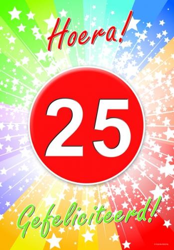 25 jarige gefeliciteerd poster