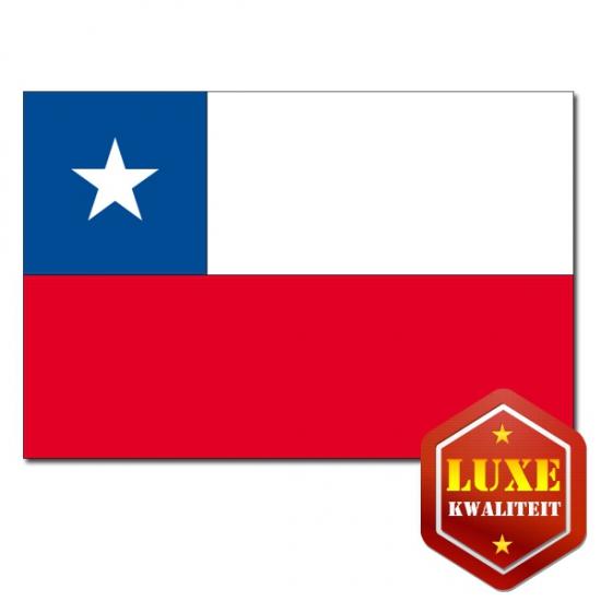 Feestartikelen Luxe vlag Chili