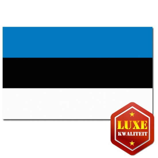 Feestartikelen Luxe vlag Estland