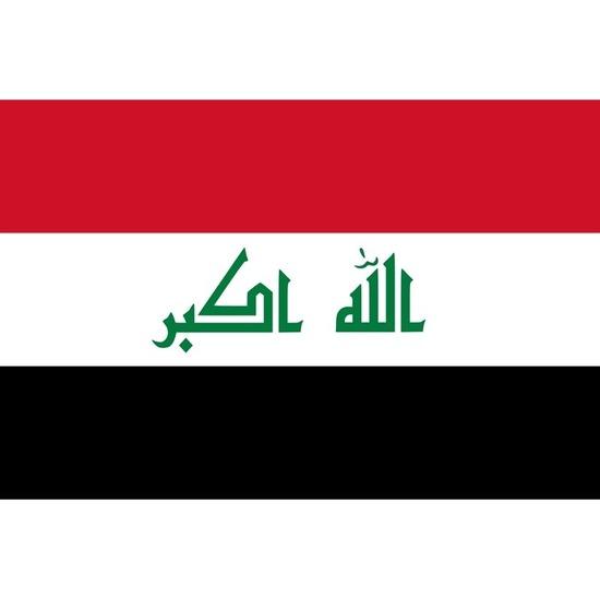 Feestartikelen Luxe vlag Irak