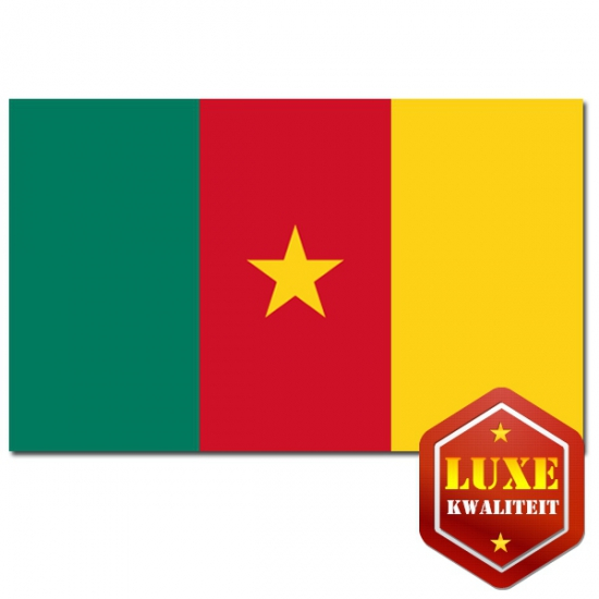 Feestartikelen Luxe vlag Kameroen