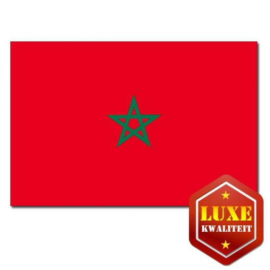 Feestartikelen Luxe vlag Marokko