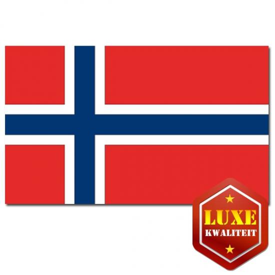 Feestartikelen Luxe vlag Noorwegen