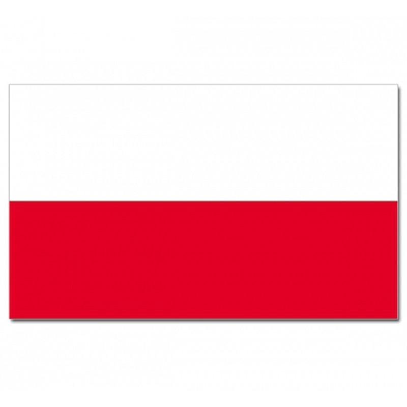 Feestartikelen Luxe vlag Polen met wapen