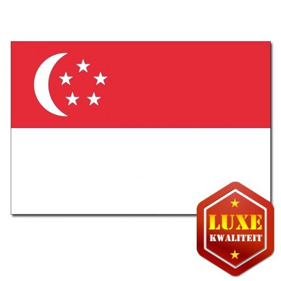 Feestartikelen Luxe vlag Singapore