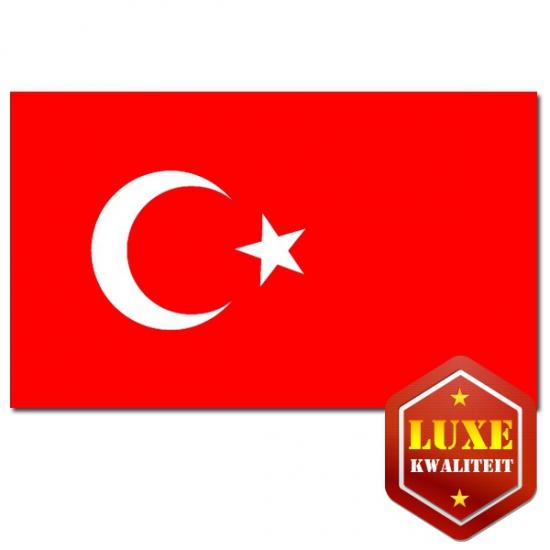 Feestartikelen Luxe vlag Turkije