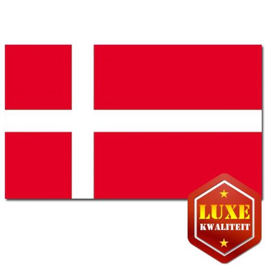 Feestartikelen Luxe vlag van Denemarken