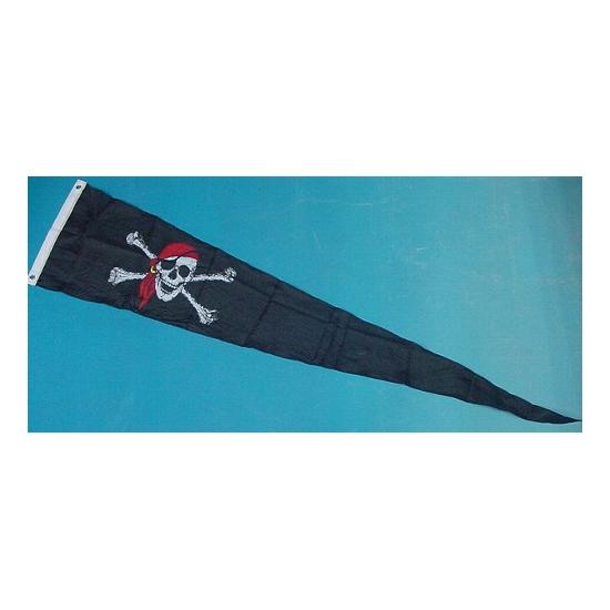 Feestartikelen Piraten wimpel 28 x 148 cm
