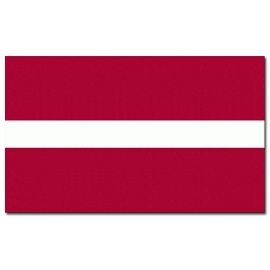 Feestartikelen vlag Letland
