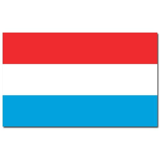 Feestartikelen vlag Luxemburg