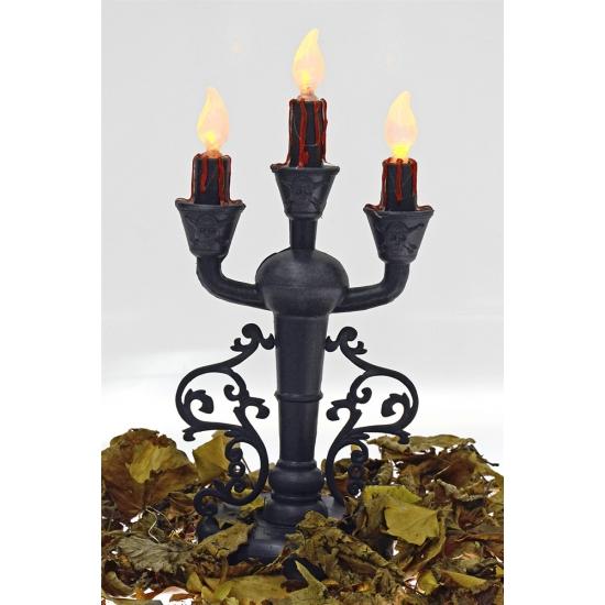 Horror kaarsen kandelaar verlichting 30 cm