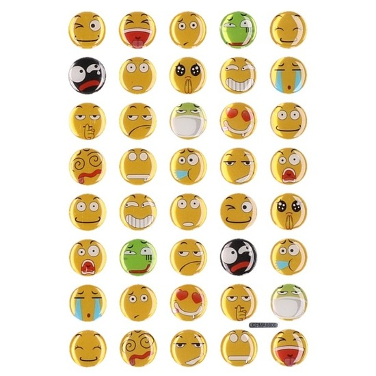 40x smiley stickertjes op vel