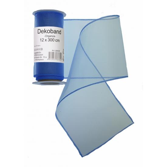 Blauwe organza decoratie strook