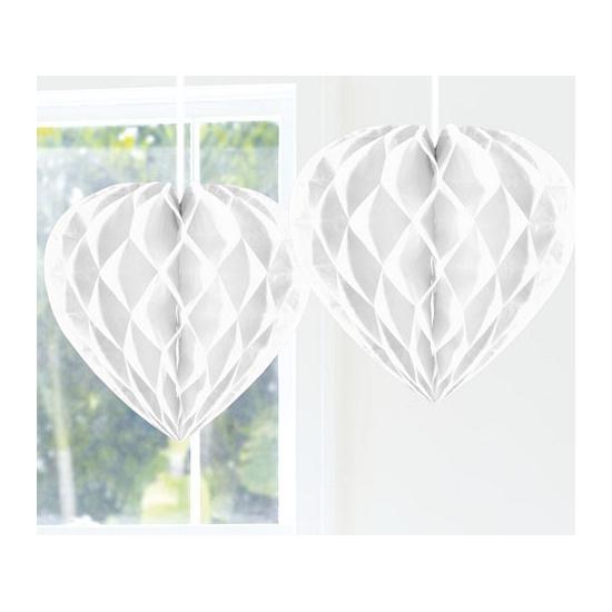 Bruiloft decoratie hart 30 cm wit