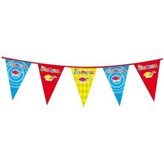 Carnaval feestartikelen vlaggenlijn