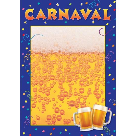 Carnaval uitnodigings poster A2