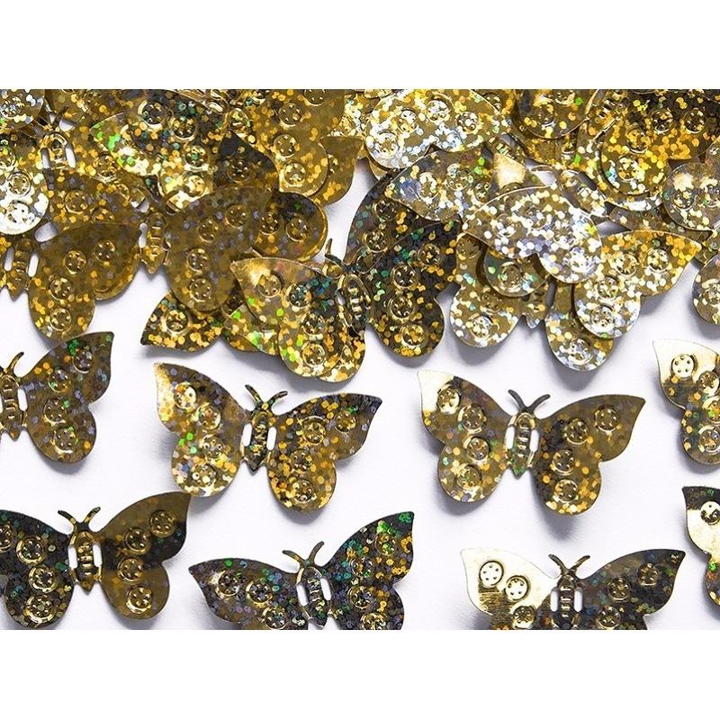 Confetti gouden vlinders feestdecoratie 15 gram