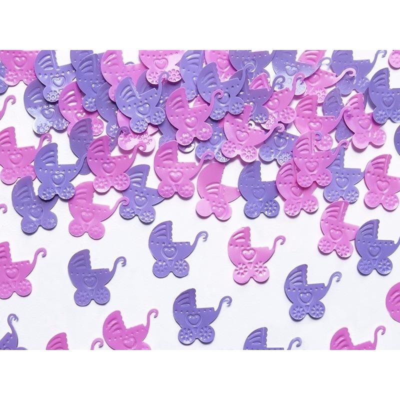 Confetti kinderwagentjes feestdecoratie 15 gram