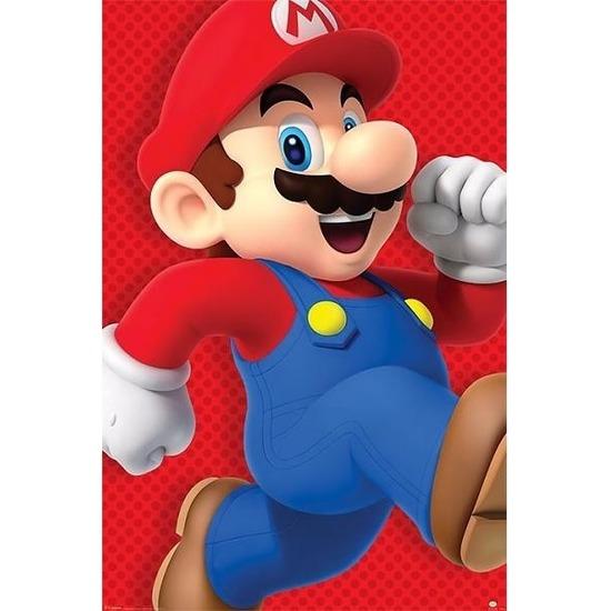 Decoratie poster Super Mario Run 61 x 92 cm