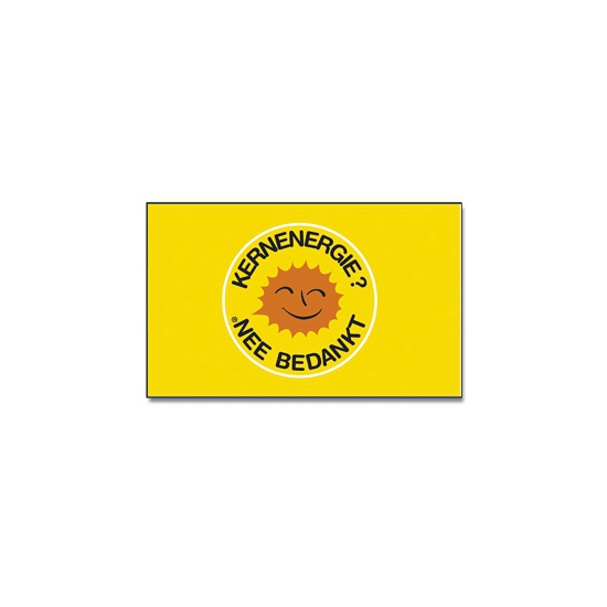 Dubbel gestikte vlag Kernenergie nee bedankt