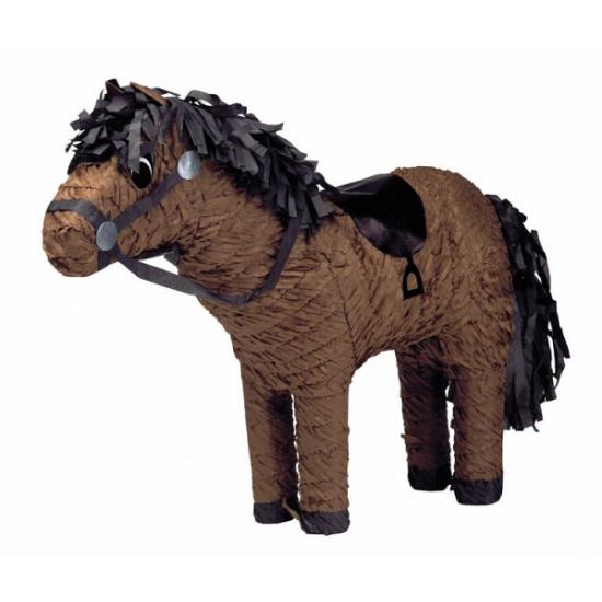Feest pinata paard bruin 53 cm