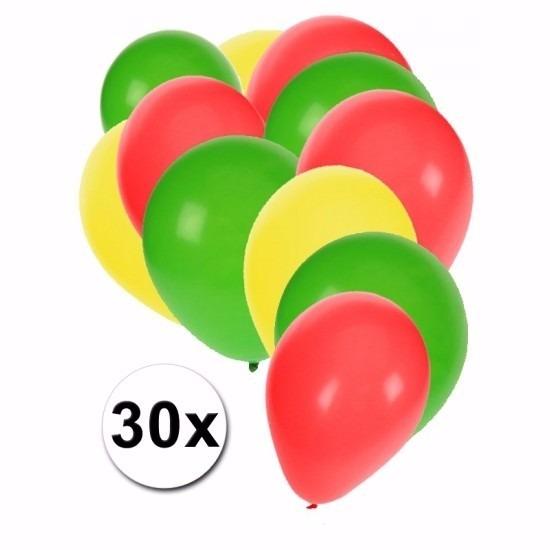 Feestartikelen ballonnen in Boliviaanse kleuren