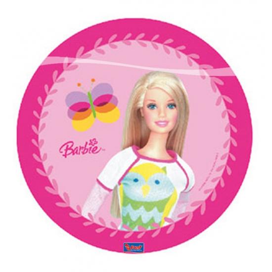 Feestartikelen Barbie bordjes 10 stuks