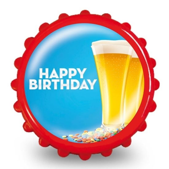 Feestartikelen Bierdop flesopener birthday