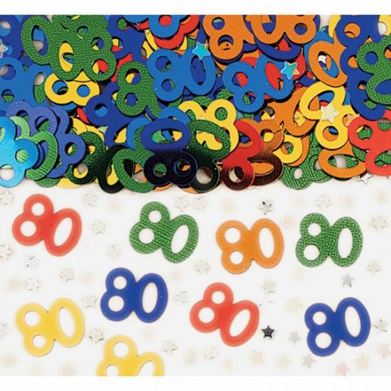 Feestartikelen Confetti 80 jaar
