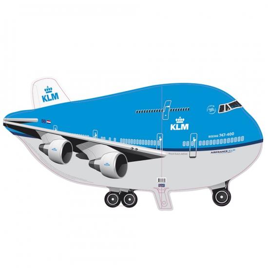 Feestartikelen Folie ballon KLM vliegtuig