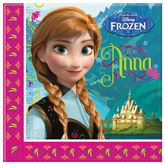 Feestartikelen Frozen servetjes 33 x 33 cm