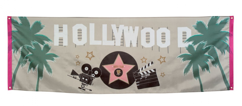 Feestartikelen Hollywood vlaggen 220 cm