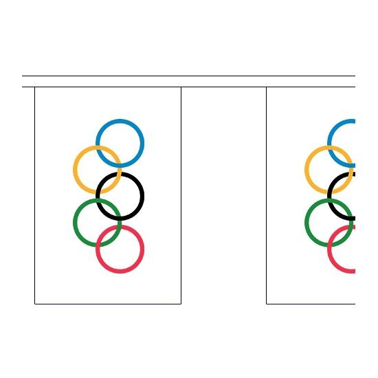 Feestartikelen Olympische vlaggenlijn