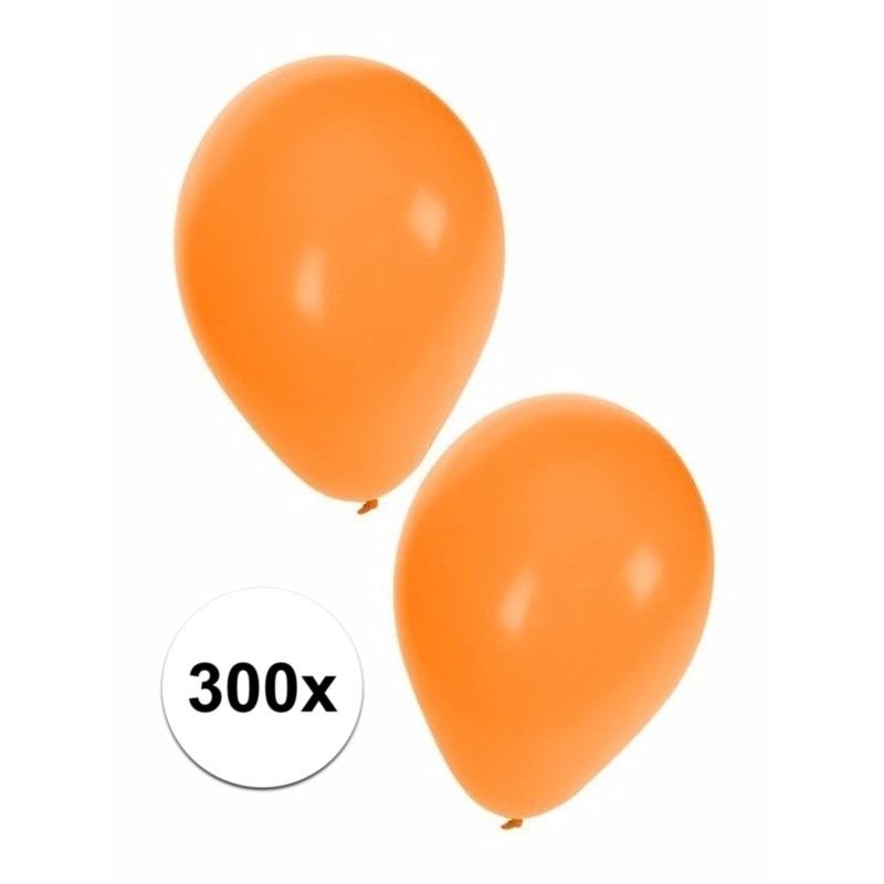 Feestartikelen Oranje ballonnen 300 stuks