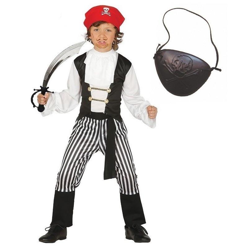 Feestkleding piraatje maat 128-134 voor kinderen
