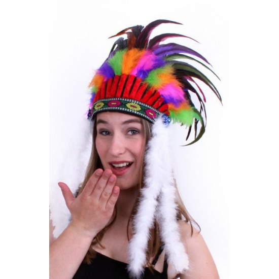Gekleurden indianentooi voor volwassenen