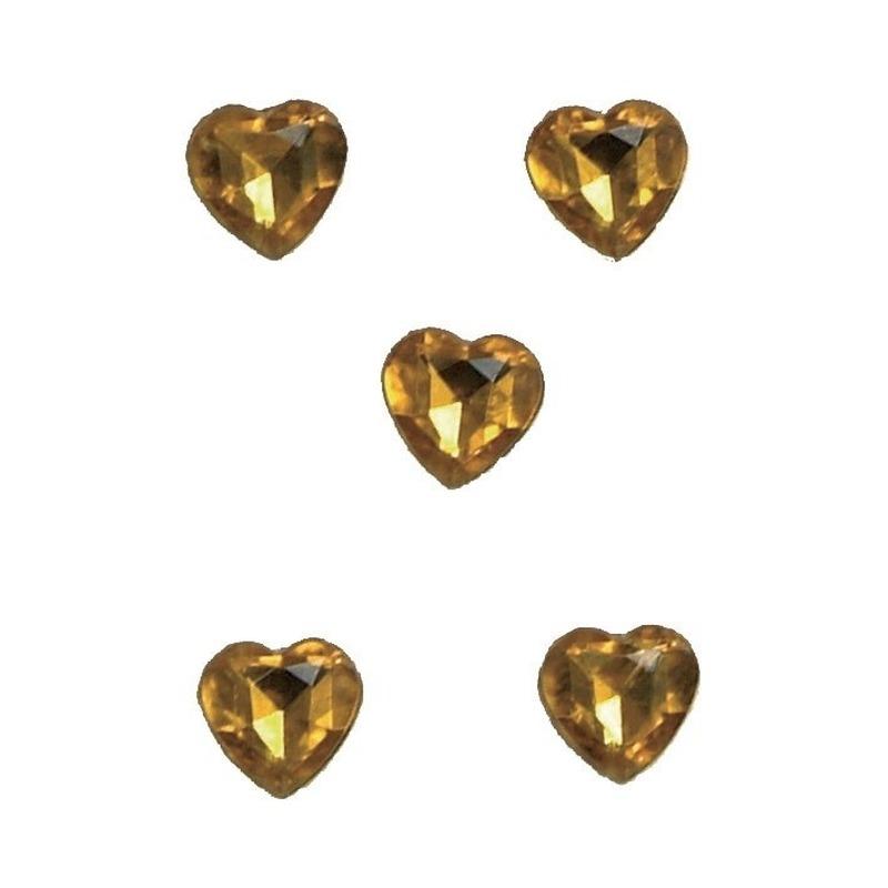 Gouden hartjes diamanten in doosje