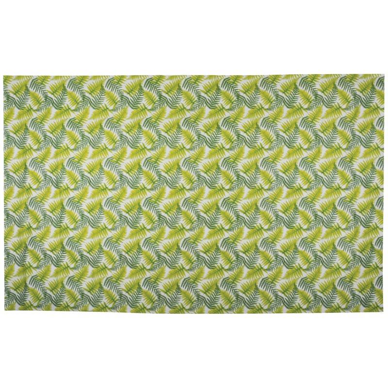 Groen tafelkleed Varen print 220 cm