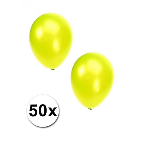 Grote lime kleurige partyballonnen 50 stuks
