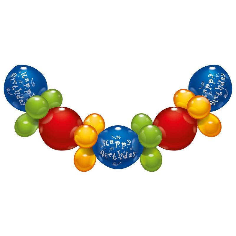 Happy Birthday zelfmaak ballonnenslinger