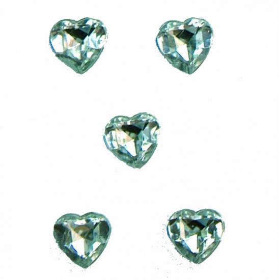 Hartjes diamanten in doosje 40 stuks
