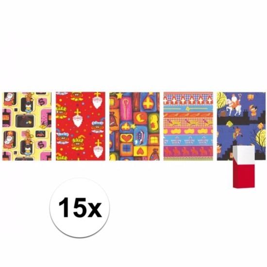 Kadopapier van Sinterklaas 15 st