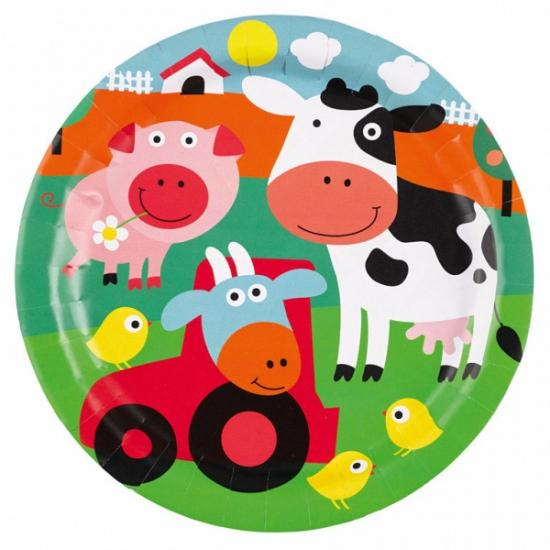 Kartonnen borden boerderij dieren