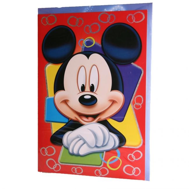 Mega Mickey Mouse verjaardagskaart