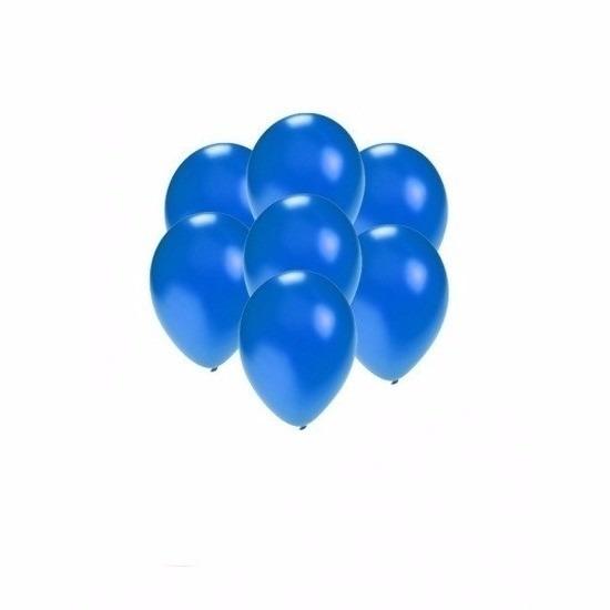 Metallic blauwe ballonnen klein 200 stuks