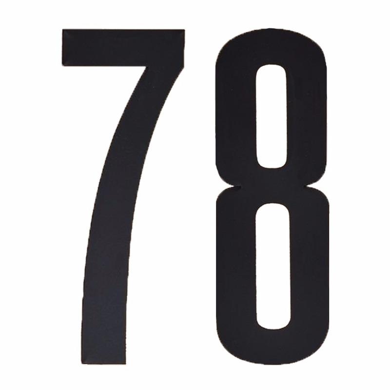 Naamsticker cijfer 78 zwart