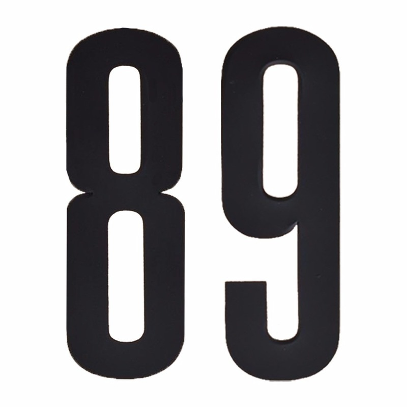 Naamsticker cijfer 89 zwart