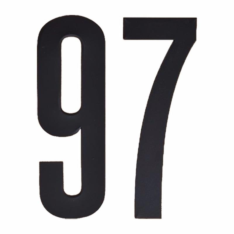 Naamsticker cijfer 97 zwart