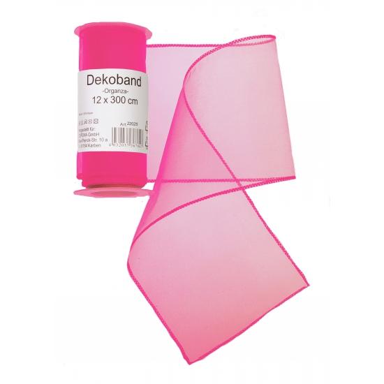 Neon roze organza decoratie strook